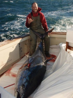 Captain John with Giant Bluefin Tuna